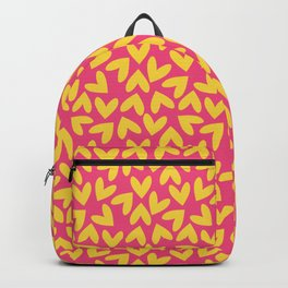 Yellow and Pink Hearts Repeated Pattern 080#001 Backpack