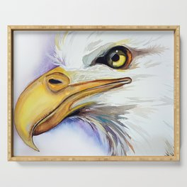 Eagle painting by Anne Gorywine Serving Tray