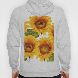 Design Five Sunflower on white Background Hoody