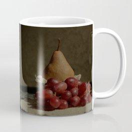 Bosc Pear and Grapes - Old World Stills Series Coffee Mug