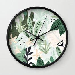 Into the jungle II Wall Clock