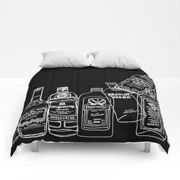 Pop Bottles Black Comforters