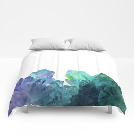 Blue-green Crystals Comforters