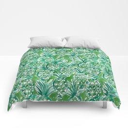 DEM PINEAPPLES Green Tropical Comforters
