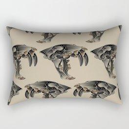 Ancient Warrior (Sabertooth Skull) Rectangular Pillow