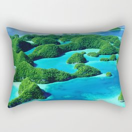 Glimpses of Heaven: Palau 70 Islands In Micronesia Rectangular Pillow