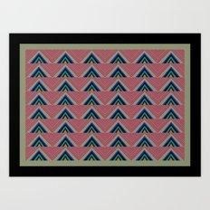 Rainbow Triangle Chevron Print Art Print