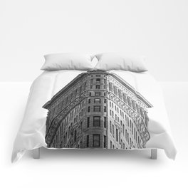 Flatiron Black and White NYC Comforters
