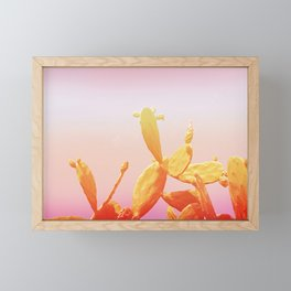02_Fantasy#Cactus#retro#film#effect Framed Mini Art Print