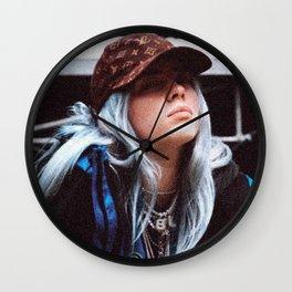 Billie Eilish with a LV hat Wall Clock