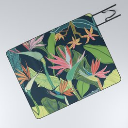 Tropical Bird of Paradise Picnic Blanket