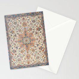 Fine Persia Tabriz Old Century Authentic Colorful Blue Rust Orange Vintage Patterns Stationery Cards