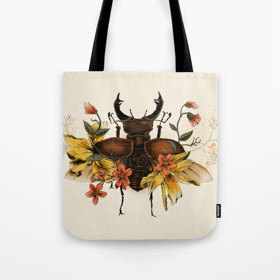 Blooming Beetle Tote Bag