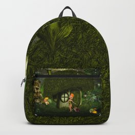 Cute fairy and little fox Backpack