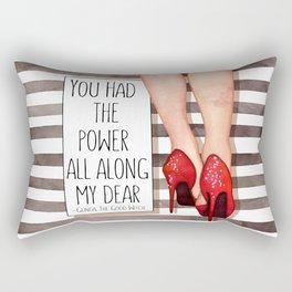 Red Slippers Rectangular Pillow