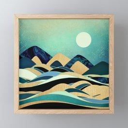 Emerald Evening Framed Mini Art Print