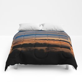 Twilight colorful sunset Comforters