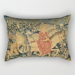 Two Scenes from Der Busant Rectangular Pillow