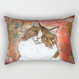 Natasha the Norwegian Forest Cat Rectangular Pillow