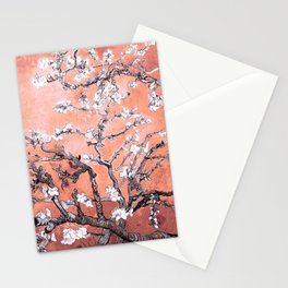 Van Gogh Almond Blossoms : Deep Peach Stationery Cards