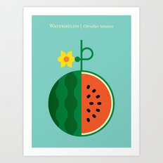 Fruit: Watermelon Art Print