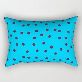 Tiny blue cheetah print w/ purple dots Rectangular Pillow