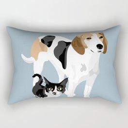 Kitten and Lulu Rectangular Pillow