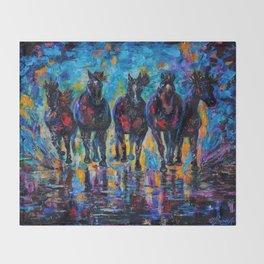 Roaming Free by OLenaArt/ Lena Owens Throw Blanket