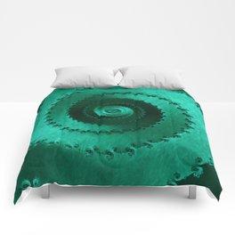Green Filigree Comforters