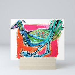 Bird on the Run Mini Art Print
