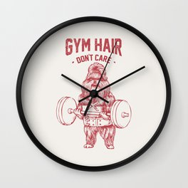 Gym hair don't care shih tzu Wall Clock