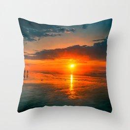 The sun watchers Throw Pillow