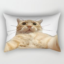 Cat Selfie Rectangular Pillow