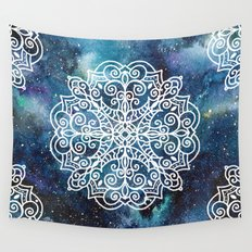 mandala and nebula Wall Tapestry