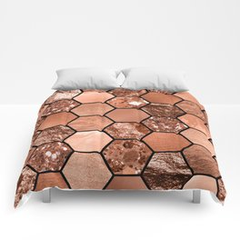 Rose gold hexaglam Comforters
