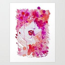 Lip service Art Print