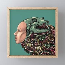 Hat of bones color Framed Mini Art Print