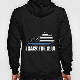 Kentucky Police Appreciation Thin Blue Line I Back The Blue 2 Hoody