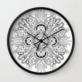 Flowery Mandala Wall Clock