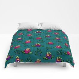 Round Flower Pattern Comforters