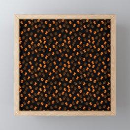 Aliens-Orange Framed Mini Art Print
