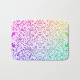 Rainbow Mandala Badematte