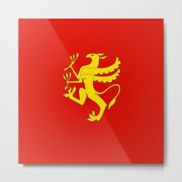 flag of troms Metal Print