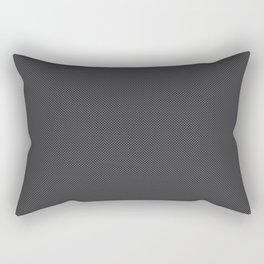 Black & Grey Simulated Carbon Fiber Rectangular Pillow