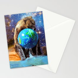 Give Planet Earth A Bear Hug! Stationery Cards