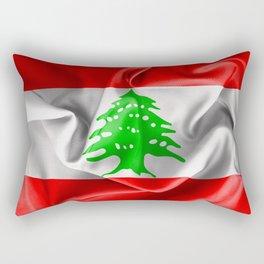 Lebanon Flag Rectangular Pillow