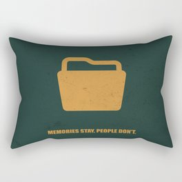 Lab No. 4 - Memories Stay, People Don't Corporate Start-Up Quotes Poster Rectangular Pillow