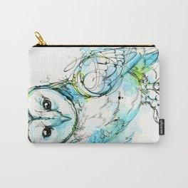 Aqua Tyto Owl Carry-All Pouch