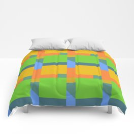 Let's Make Squares (yellow) Comforters