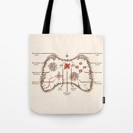 Controller Map Tote Bag